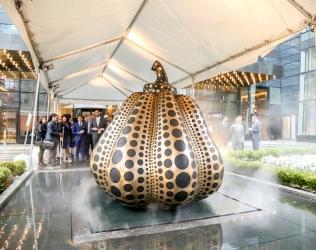 Sky Debuts Permanent Yayoi Kusama Sculpture